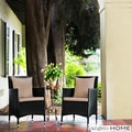 angelo:HOME Napa Estate Summer Cocoa Brown Indoor/ Outdoor Dining Chairs (Set of 2)