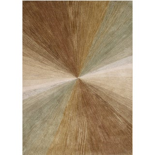 Alliyah Hand-made New Zeland Blend Wool Abstract Area Rug (9' x 12')