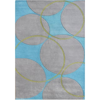 Alliyah Handmade Rings and Circles New Zealand Blend Wool Rug(9' x 12')