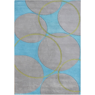 Alliyah Hand-made 'Rings' New Zealand Wool Rug (9' x 12')