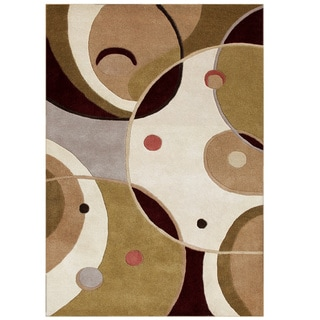 Alliyah Handmade Hand Tufted Beige New Zealand Blend Wool Rug (9' x 12')