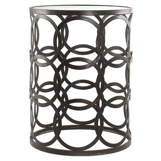 'Circles' Metal Barrel End Table