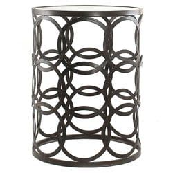 'Circles' Metal Barrel End Table