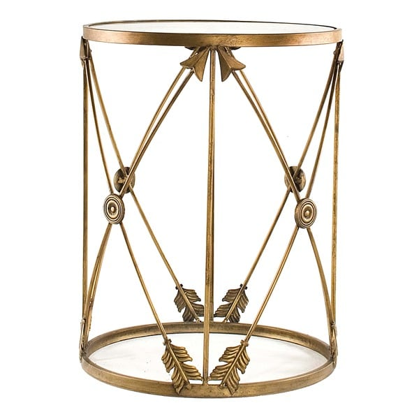 'Arrows' Large Metal Barrel End Table
