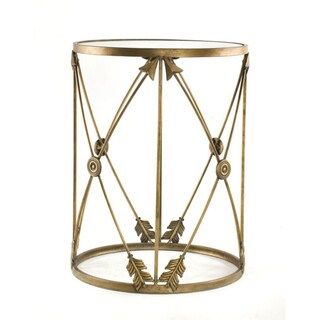 'Arrows' Large Metal Barrel End Table