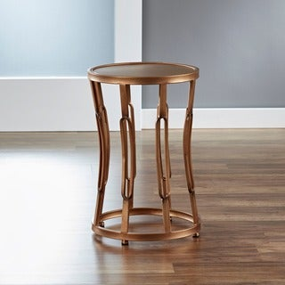 &#39;Hourglass&#39; Metal End Table