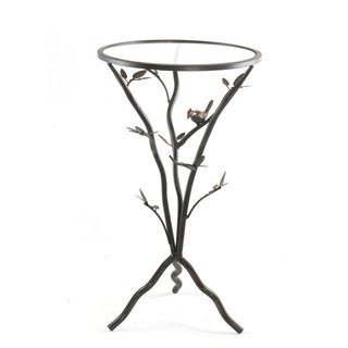 'Glass Bird' Metal End Table