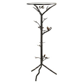 'Glass Bird' Large Metal End Table