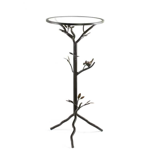 'Glass Bird' Small Metal End Table