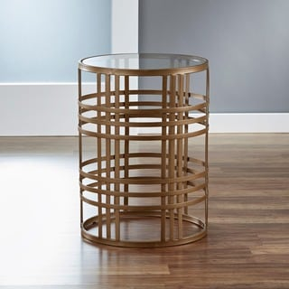 &#39;Weave&#39; Metal Barrel End Table