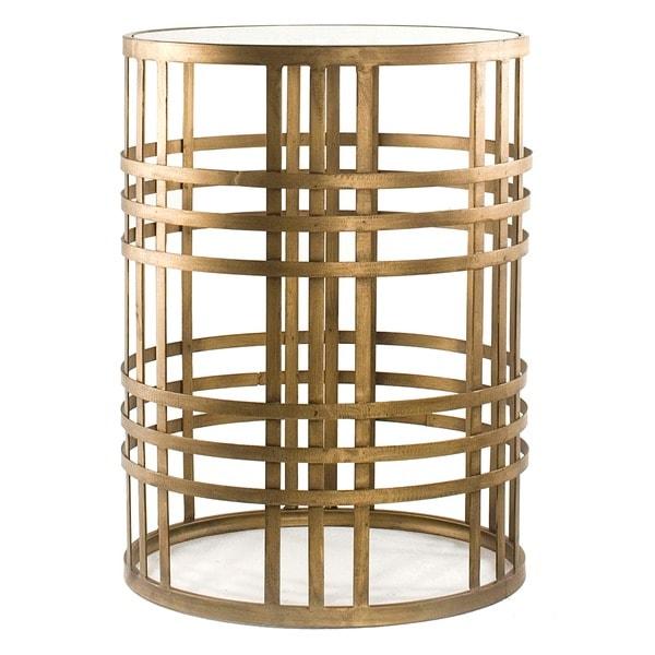 Metal End Table : Hourglass Metal End Table