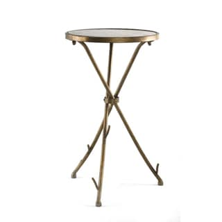 Solid Stone Top Stick End Table