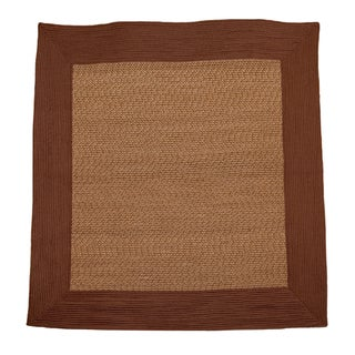 Donegal Square Indoor/ Outdoor Braided Earth Brown Rug (6' Square)