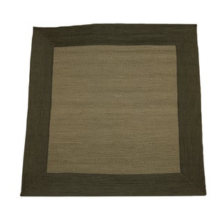 Donegal Square Indoor/ Outdoor Braided Olive Rug (6' Square)