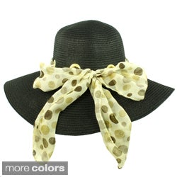 Faddism Vintage Ribbon Floppy Hat