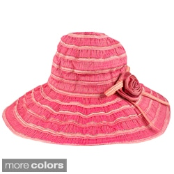 Faddism Foldable Floral Accent Floppy Hat