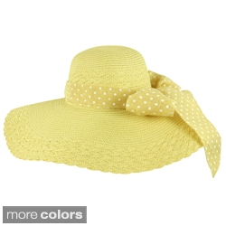 Faddism Women's Vintage Bow Floppy Hat
