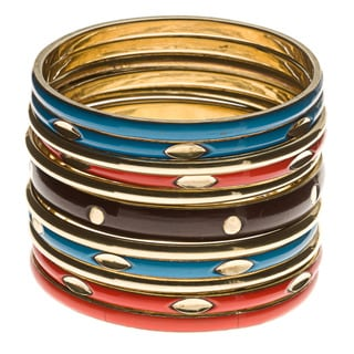 Tangerine and Turquoise Bangle Set (India)