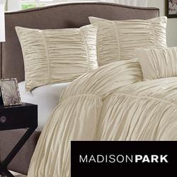 Madison Park Newport Cotton 4-piece Duvet Cover Set
