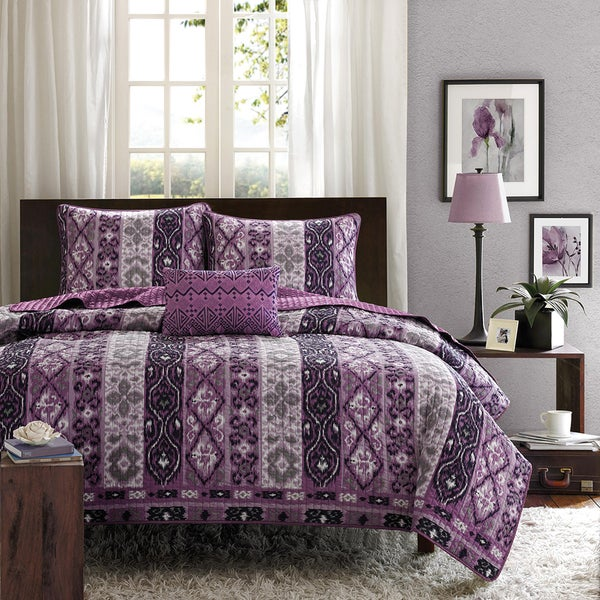 Mi Zone Noelle 4-piece Quilt Set