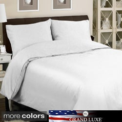 Grand Luxe Egyptian Cotton Sateen 1200 Thread Count 3-piece Mini Duvet Cover Set