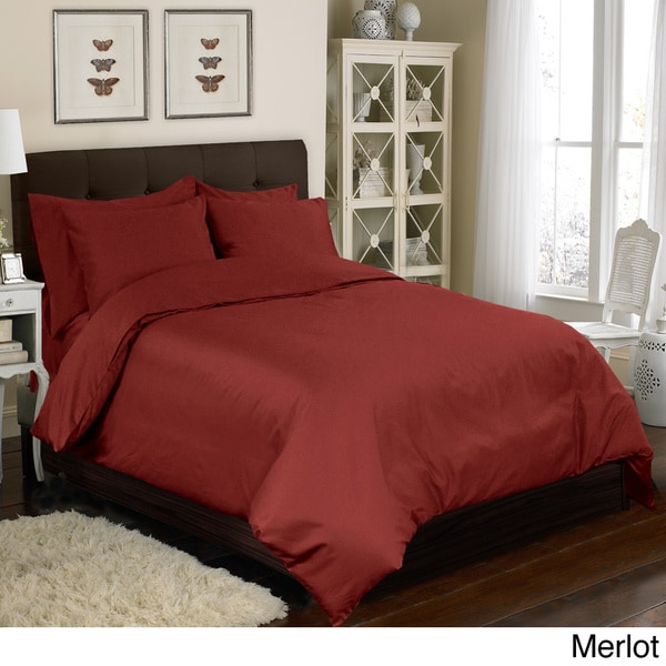 Grand Luxe 100-percent Egyptian Cotton Sateen 500 Thread Count 6-piece Duvet Cover Set