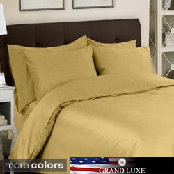 Grand Luxe Egyptian Cotton Sateen 800 Thread Count 6-piece Duvet Cover Set