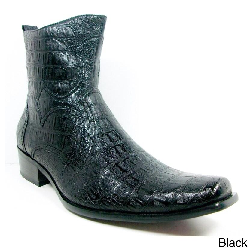 Ferro Aldo Men's Crocodile Textured Cowboy Boots at Sears.com