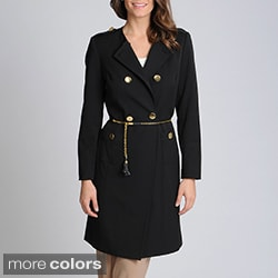 Sharagano Noir Women's Double Breasted Jacket Suit Seperate