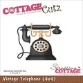 Cottagecutz Die 4X4in-Vintage Telephone