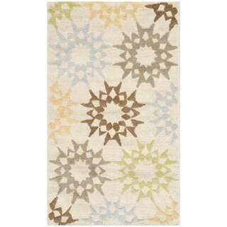 Martha Stewart Quilt Cream Cotton Rug (3'9 x 5'9)