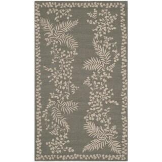 Martha Stewart Fern Row Tarragon/ Green Wool Rug (2'6 x 4'3)