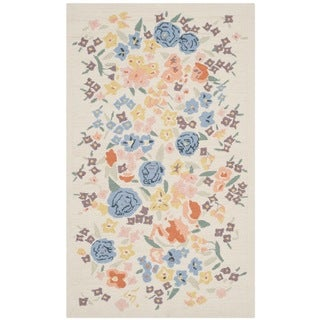Martha Stewart Watercolor Garden Almond Wool Rug (2'6 x 4'3)