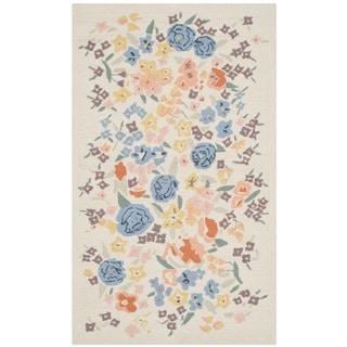 Martha Stewart Watercolor Garden Almond Wool Rug (2'6 x 4'3)