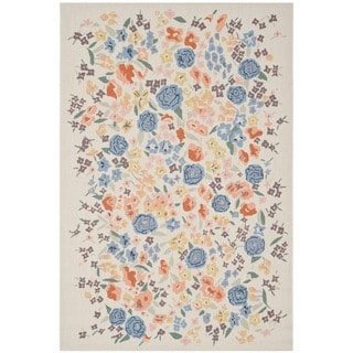 Martha Stewart Watercolor Garden Almond Wool Rug (3'9 x 5'9)