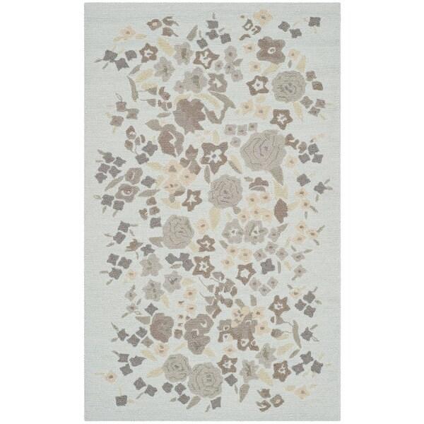 Martha Stewart Watercolor Garden Cloud Wool Rug (2'6 x 4'3)