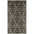 Martha Stewart Strolling Garden Coffee/ Brown Wool/ Viscose Rug (2'6 x 4'3)
