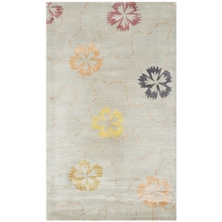 Martha Stewart Garland Pearl/ Grey Wool/ Viscose Rug (2'6 x 4'3)
