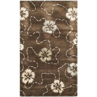 Martha Stewart Garland Mocha Wool/ Viscose Rug (2'6 x 4'3)