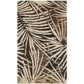 Martha Stewart Palms Coconut/ Brown Wool/ Viscose Rug (2'6 x 4'3)