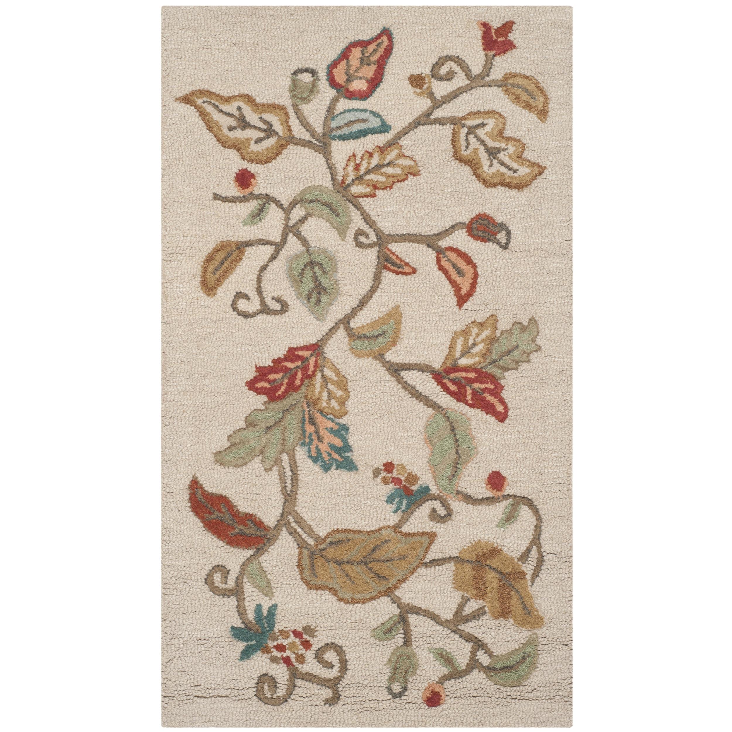 Martha Stewart Autumn Woods Persimmon Red Wool/ Viscose Rug (2'6 x 4'3)