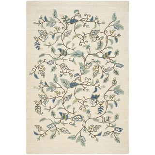 Martha Stewart Autumn Woods Colonial Blue Wool/ Viscose Rug (9'6 x 13'6)