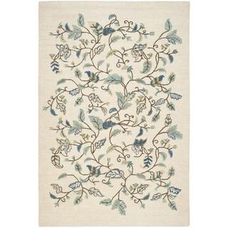 Martha Stewart Autumn Woods Colonial Blue Wool/ Viscose Rug (5'x 8')