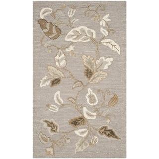 Martha Stewart Autumn Woods Grey Squirrel Wool/ Viscose Rug (2'6 x 4'3)