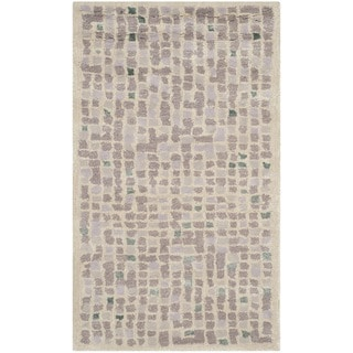 Martha Stewart Mosaic Purple Agate Wool/ Viscose Rug (2'6 x 4'3)