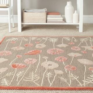 Martha Stewart Poppy Glossary Cayenne Red Wool/ Viscose Rug (2'6 x 4'3)