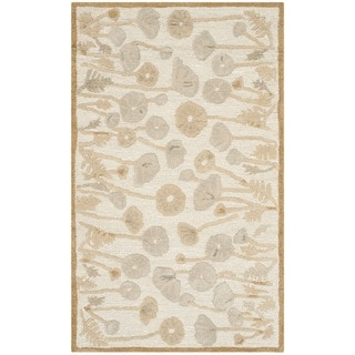 Martha Stewart Poppy Glossary Nutshell/ Brown Wool/ Viscose Rug (2'6 x 4'3)