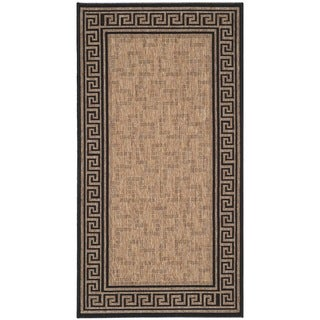 Martha Stewart Byzantium Dark Beige/ Black Indoor/ Outdoor Rug (2'7 x 5')