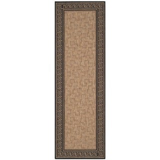 Martha Stewart Byzantium Dark Beige/ Black Indoor/ Outdoor Rug (2'7 x 8'2)