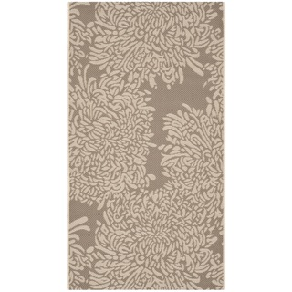 Martha Stewart Chrysanthemum Dark Beige/ Beige Indoor/ Outdoor Rug (2'7 x 5')